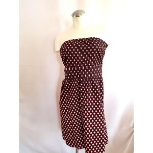 The Limited Size 6 Strapless Dress Black Red White